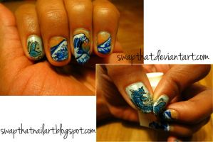 Japanese Painting Nails by swapthat