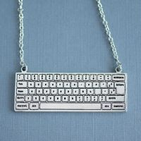 Computer Keyboard Necklace by MonsterBrandCrafts