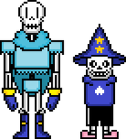 CCtale Sans and Papyrus by flambeworm370