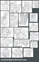 pokemon sketches 1 by mmishee