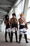 Attack on Titan: Main Trio by DMinorDucesa