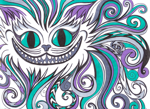 Cheshire Cat by Hidden-Rainbows