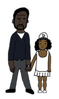 Lee and Clementine from The Walking Dead by JenniBee