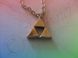 Triforce Pendant by Ilionej