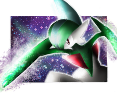 Gallade LVX - SF art by nintendo-jr