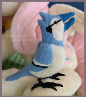 Blue Jay - Needle felting by Piquipauparro