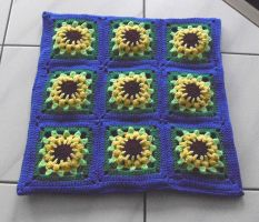 Grannys Pillow Sunflower 2nd by Scatharis