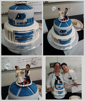 R2D2 Wedding Cake by IAmNotAPorkChop