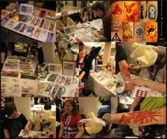 My Booth at Desucon 2011 by swandog