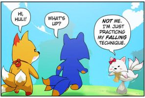 Rocket Fox 7 panel 1: Ground Flight by StacyKing