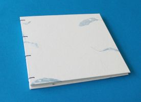 Amate Paper Guestbook - Blue Leaves by GatzBcn