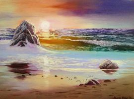 Sunset in Oils by SharonQin