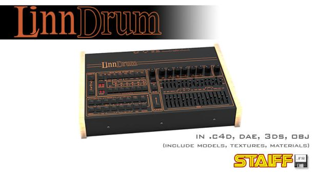 LinnDrum 3D model by staiff