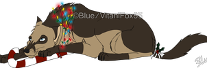 Blue XMas by VitaniFox85