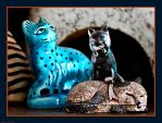 Cat-O-Log... Egyptian, Invisible Cat and Golden... by Tigles1Artistry