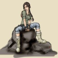 Lara at the beginning-colour by Po-Yu