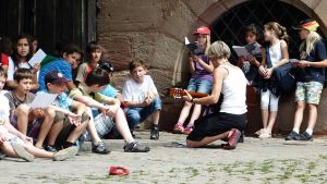 Children's Choir on the road by andersvolker