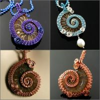 Ammonite pendant collection #1 by CatsWire