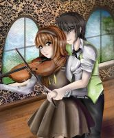 Arisa and Restis [Contest entry] by EmyKitteh