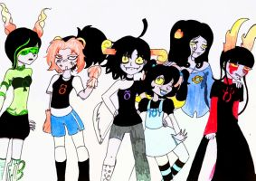 Homestuck: Chinese Zodiac Version (Females) by Our-Day-Of-Gloom
