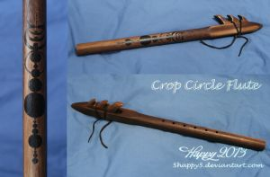 Crop Circle Native American Stlye Flute by 5Happy5