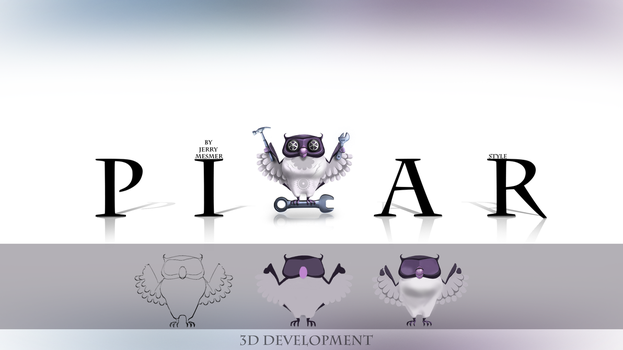 Logo pixar style by JerryMesmer