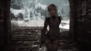 Skyrim: Thara - Under the Bridge by haunted-passion