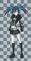 Black Rock Shooter with other style by pink-hudy