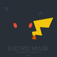 Minimalist Geek #1 - Electric Mouse by FinalArtz