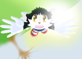 Flying Dreaming Klonoa by Angrymonkey2489