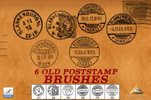 6 OLD POSTSTAMP BRUSHES by HJR-Designs