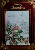 A Robin sings at Christmas by blackrose1959