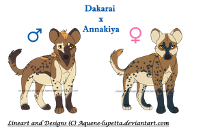 Hyena cubs for Earthbound-Hippie by Aquene-lupetta