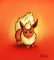Eeveelution - Flareon by Delpha