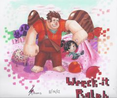 Wreck-It Ralph by Artsenseiofdreams