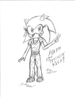Kira the Hedgehog Gift Sketch by CCI545