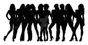Stripper Girl Silhouettes 1 by egoform