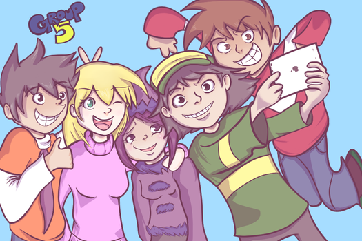 Group 5 Selfie! by Vannamelon