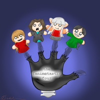 The Mindless Fanimetastic Four by cloudmuffin727