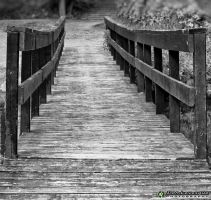 A bridge to cross - bw by imonline