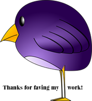 PurpleBirdThx by recycledrelatives