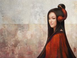 Pepper Orient Wallpaper by Artgerm