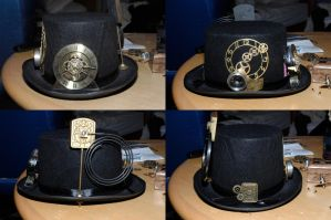 Steampunk Top Hat by DemoraFairy