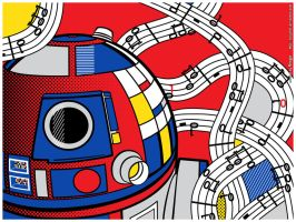 StarWarsPopArt - Abstract R2D2 by Bergie81