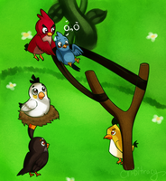 Angry birds by Sunnynoga