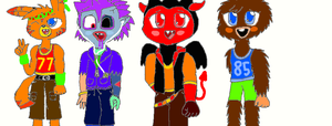 Anthro Male Moshis by poppetrocks278