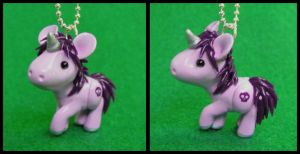 Purple Unicorn with Skull by DragonsAndBeasties