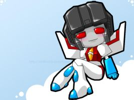 TF G1 - Starscream Chibi by Vani-Fox