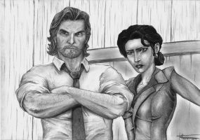 The Wolf Among Us - Bigby and Snow by ElStormo
