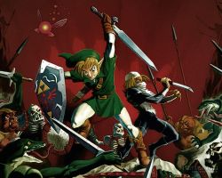 Sheik and Link fighting by Dexels